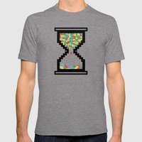 Game Time Mens Fitted Tee Tri-Grey SMALL