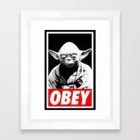 Obey Yoda - Star Wars Framed Art Print