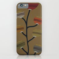 iPhone & iPod Case featuring Retro Flower I by Ted and Rose Design