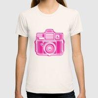 I Still Shoot Film Holga Logo - Pink Womens Fitted Tee Natural SMALL
