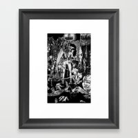 In Hell we are the cockroaches Framed Art Print