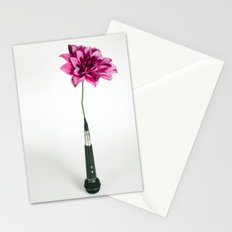 Microphone Vase Stationery Cards