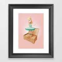Next pop singer  Framed Art Print