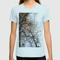 Fall II Womens Fitted Tee Light Blue SMALL