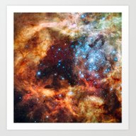 Art Print featuring Grand Star Forming (Tara… by EarthMoonStars