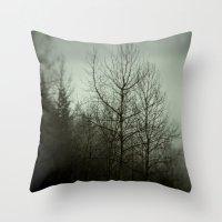 Tree mist Throw Pillow