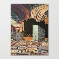 the city's been dead (since you've been gone) Canvas Print