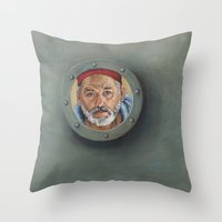 Bill Murray / Steve Zissou / Wes Anderson  Throw Pillow