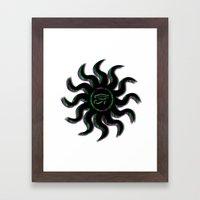 Green Egyptian Sun Framed Art Print