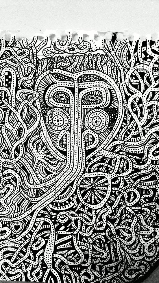 hidden man Art Print