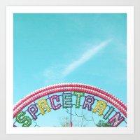 Space Train Art Print