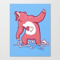 Terror Bear Canvas Print