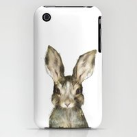 iPhone 3Gs & iPhone 3G Cases featuring Little Rabbit by Amy Hamilton