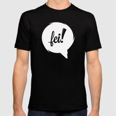FEI wht cutout Black Mens Fitted Tee SMALL