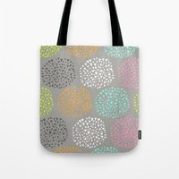 Flowers-triangles Tote Bag