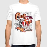 Cut N' Dye Girl Mens Fitted Tee White SMALL