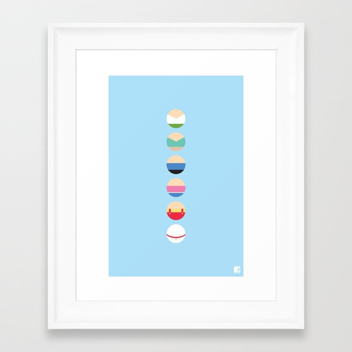 Family guy inspired minimalist poster framed art print by for Minimal art family