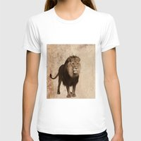lion T-shirts featuring Lion by haroulita