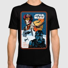 Poe Dameron vs. Tie Fighter Pilot Black Mens Fitted Tee SMALL