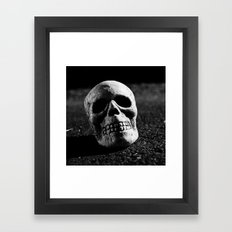 Nocturnal skull Framed Art Print
