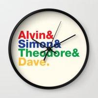 ALVIN&SIMON&THEODORE&DAVE. Wall Clock