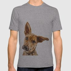 Dog Mens Fitted Tee Athletic Grey SMALL