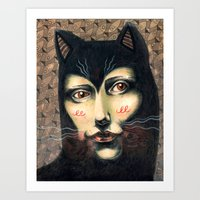 Cat Story Art Print