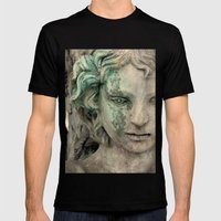 An Angel Cries Mens Fitted Tee Black SMALL