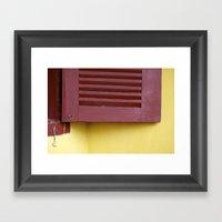 When A Door Closes, A Wi… Framed Art Print