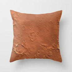Mars Surface Throw Pillow