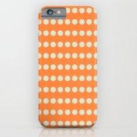 Circular Orange Dots Pattern iPhone 6 Slim Case