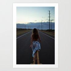 Just walk it off Art Print