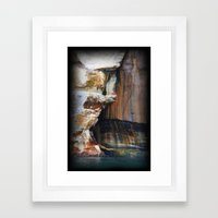 Rocky Crevices Framed Art Print