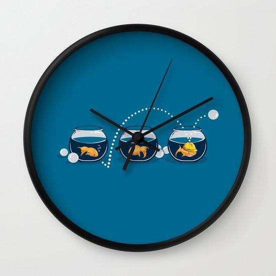 Prepared Fish Wall Clock