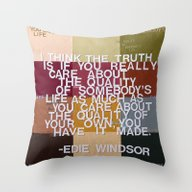 Throw Pillow featuring