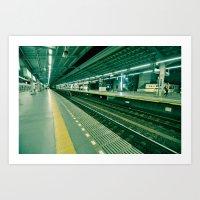 Tokyo Train Station Art Print