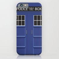 iPhone & iPod Case featuring Tardis - Doctor Who by Alex Patterson AKA frigopie76