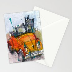 Scottish Terrier Driving a VW Bus Stationery Cards