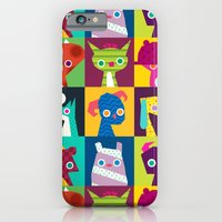 iPhone & iPod Case featuring Thumbnail Monsters by Chopsticksroad.