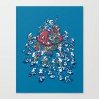 Blue Horde Canvas Print