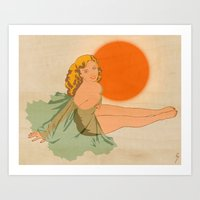 Art Print featuring Malibu Surf Wax by Wolves In Space