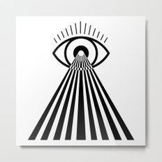 Laser Eye Metal Print