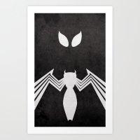 Spider-Man Black Costume Art Print