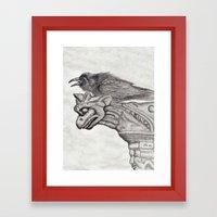 A Ravens Perch Framed Art Print