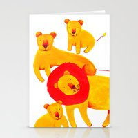 Lion Family Stationery Cards