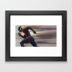 Reverse Flash Framed Art Print