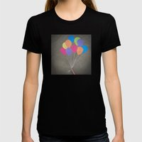 Up up and away Womens Fitted Tee Black SMALL