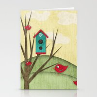Shabby Sweet Tweet On Th… Stationery Cards