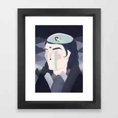 floating in sadness Framed Art Print