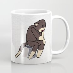Sock Monkey Thinking Mug